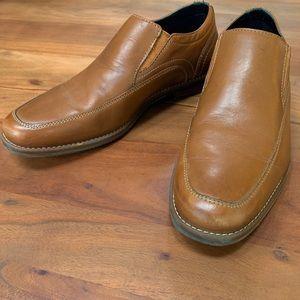 Mens Rockport Brown Leather Slip-on Loafer Shoes